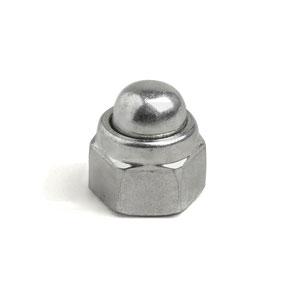 Wheel rim nut: domed, Zinc