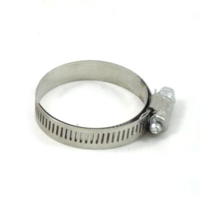 Shielded hose clamp for rubber carb mount: 26-30mm carbs with 35mm spigot connection, 30-45mm 12mm band