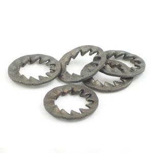 10mm internal serrated washer: Zinc