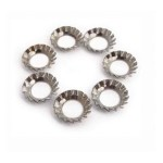 6mm counter sunk serrated washer: Zinc