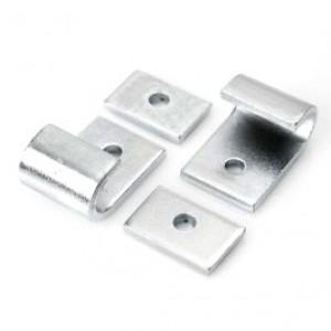 Center stand bracket set, stainless