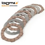 BGM Superstrong clutch plates, cork  and steel plates: set of 5