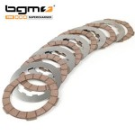BGM Superstrong clutch plates, cork and steel plates: set of 6