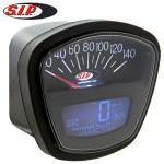 SIP speedometer/tach, black face: Lambretta Series 3, DL/GP