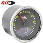 SIP speedometer/tach, stainless ring: Vespa P range