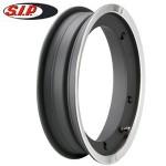 SIP tubeless wheel rim, black with polish edge: Vespa