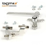 BGM cable adjuster block and gear swivel linkage set: silver