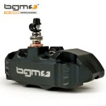 BGM four piston hydraulic brake caliper: Black