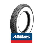 Mitas B14 white wall: 3.5x10 tire 51J