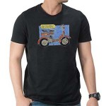 Lambretta D art T Shirt: Black