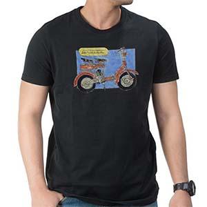 Lambretta D art T Shirt: Black