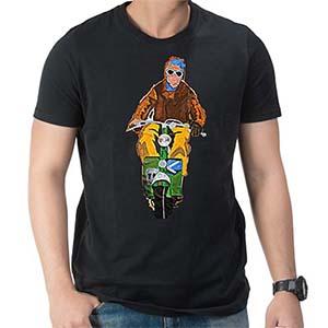 Kdog! Lambretta C art T Shirt: Black