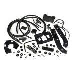 Complete rubber kit, DL/GP, Serveta: black