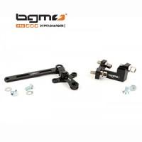 BGM cable adjuster block and gear swivel linkage set: black Lambretta