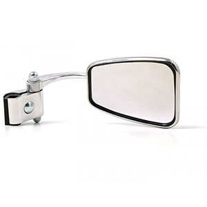 Stadium leg shield clamp on mirror: rectangular RHS