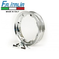 "FA Italia Octopus tubeless wheel rim 2.10-10"", aluminum- Lambretta, Polished"