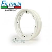 "FA Italia Octopus tubeless wheel rim 2.10-10"", aluminum- Lambretta, White"