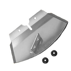 Disc brake scoop with cable guides