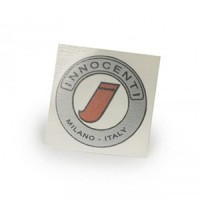"Round ""Innocenti"" sticker for model C"