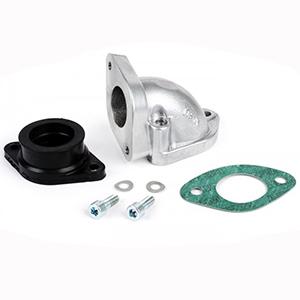 Casa Lambretta intake manifold, 30mm diameter rubber mount for spigot mount carbs, small block cylinders