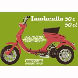 Lambretta LUI parts catalog, book
