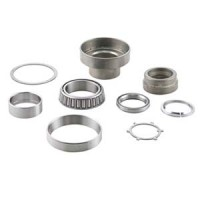 SIP complete tapered steering bearing race kit, Lambretta: with chrome ring series 1-3