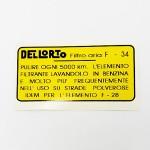 Air filter maintenance sticker: Lambretta Series 1 framebreather