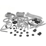 Complete rubber kit, SX/TV/LI/LiS, Serveta: grey